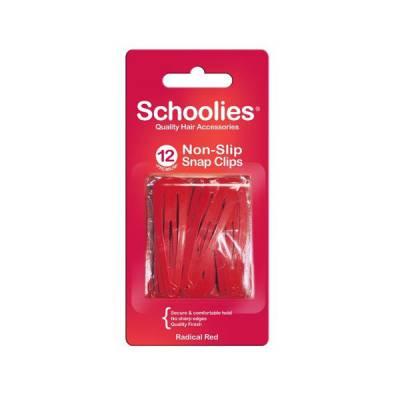 Bộ 12 kẹp bấm cài tóc Schoolies đỏ