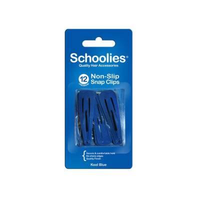 Bộ 12 kẹp bấm cài tóc Schoolies xanh dương