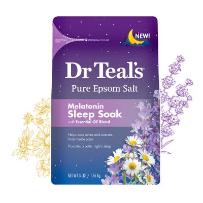 Dr Teals Muối tắm Epsom Melatonin giúp dễ ngủ 1360g