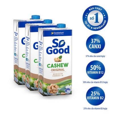 3 hộp sữa hạt điều So Good 1L