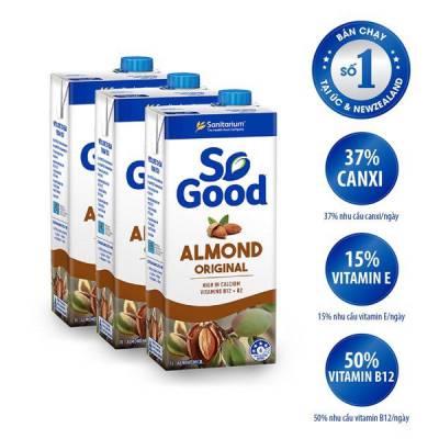 3 hộp sữa hạt hạnh nhân So Good 1L