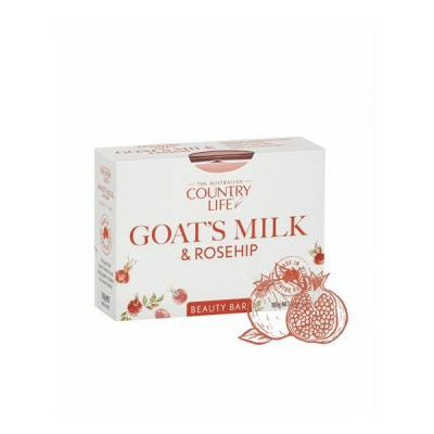 Xà bông cục Country Life Goat's Milk Úc 100g chiết xuất sữa dê và tầm xuân