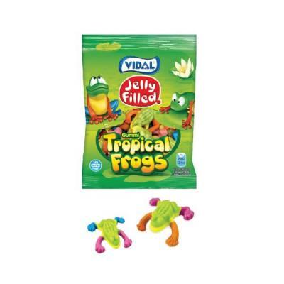 Kẹo dẻo hình con ếch nhân thạch Vidal gói 100g