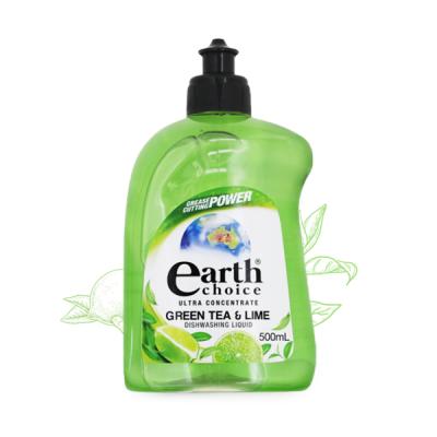 Nước rửa chén đậm đặc Earth Choice Úc 500ml gốc thực vật hương chanh và trà xanh