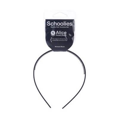 Cài tóc bản nhựa lớn Alice Schoolies đen