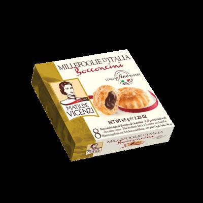 Bánh puff pastry BOCCONCINI nhân kem sô cô la 65g