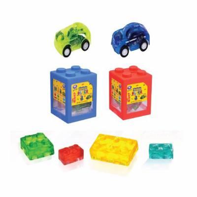 Kẹo dẻo đồ chơi xếp hình 4D hộp 40g