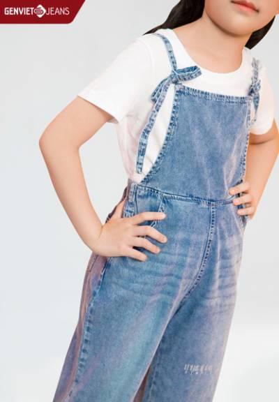 NY124J1909 - Yếm Jeans Bé Gái