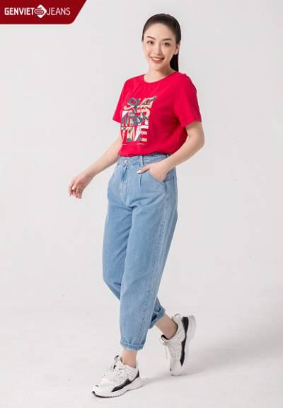 TQ104J1908 - Quần Dài Jeans Nữ Col Thụng