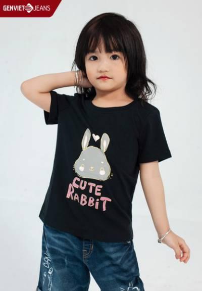 BC321T1665 - Áo Thun Kid Cute Rabbit