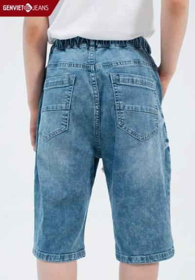 N1309J1806 - Quần Ngố Jeans Kid Thời Trang Bé Trai