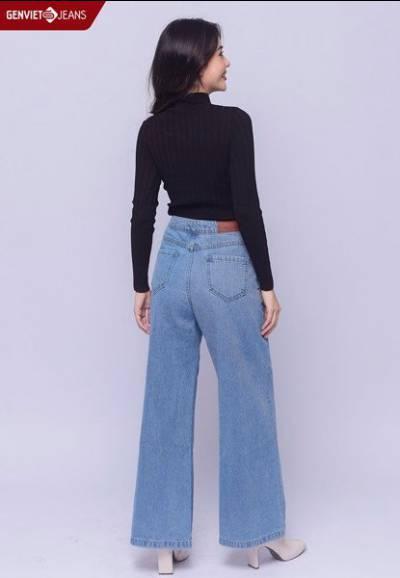 TQ124J1291 - Quần Dài Jeans Nữ Dáng Suông
