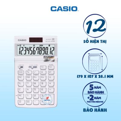 Máy tính Casio JW-210TV trắng