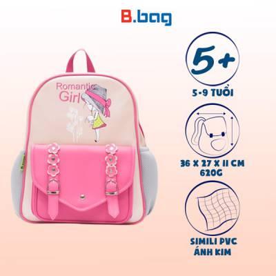 Balo học sinh B-12-035 màu hồng nhạt