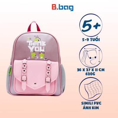 Balo học sinh B-12-036 màu tím nhạt