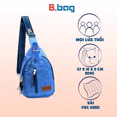 Túi đeo chéo bụng T-23-007 màu xanh dương nhạt