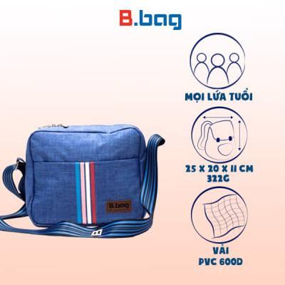 Túi đeo chéo ngang T-23-010 màu xanh dương nhạt