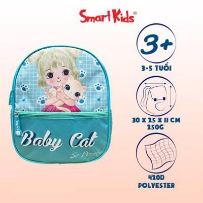 Ba lô MG Toy Station-Baby Cat B-008 Xanh nhạt