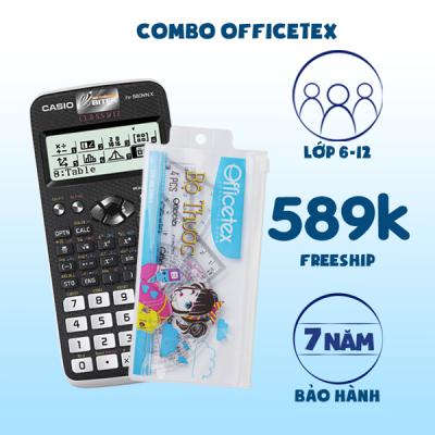 COMBO Officetex: Casio Fx-580VN X + Combo Thước kẻ đủ loại