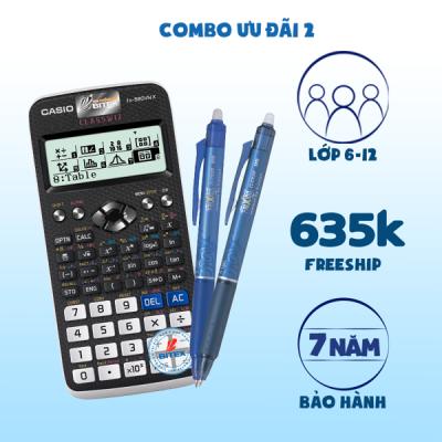 COMBO Ưu đãi 2: Casio Fx-580VN X + Combo21 Pilot: 2 Bút Gel xóa được Pilot Frixion (1 xanh 1 xanh đen)
