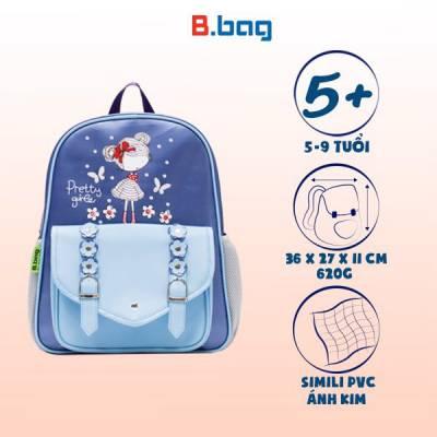 Balo học sinh B-12-034 màu tím xanh