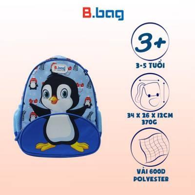 Balo mẫu giáo Buddy-Penguin B-12-101 Xanh
