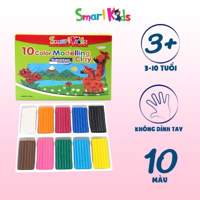 Đất nặn hộp giấy 10 màu thường SK-BX10R