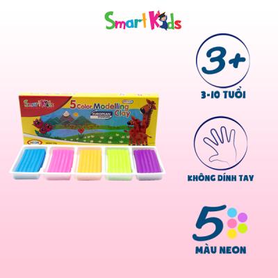 Đất nặn hộp giấy 5 màu neon SK-BX5N