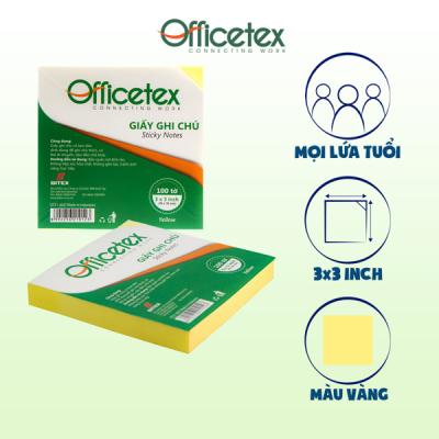 Giấy ghi chú Officetex 3 x 2 màu vàng