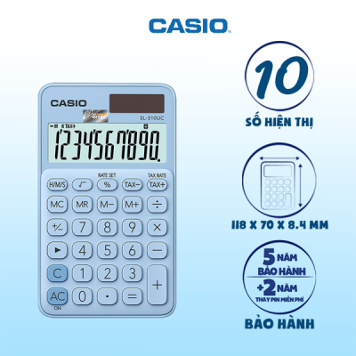 Máy tính Casio SL-310UC màu xanh dương nhạt