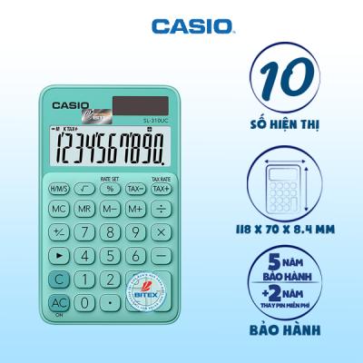 Máy tính Casio SL-310UC màu xanh lá