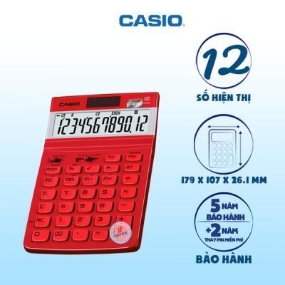 Máy tính Casio JW-210TV đỏ