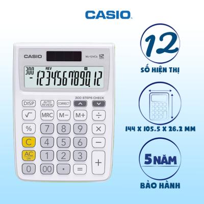 Máy tính Casio MJ-12VCb trắng