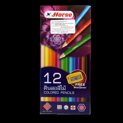 Chì màu H-2080/12 dài + chuốt, hộp giấy