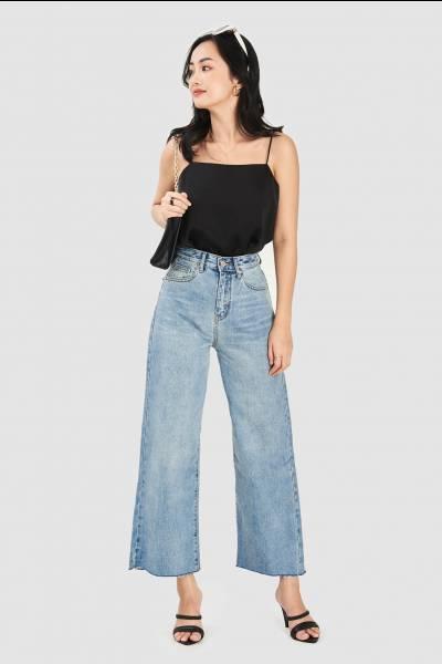 Quần jeans form suông basic
