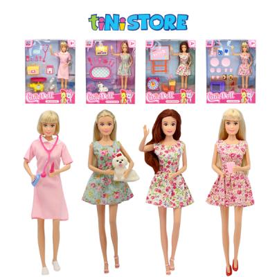 Bộ đồ chơi búp bê hướng nghiệp cỡ nhỏ TINITOY Cutie Doll