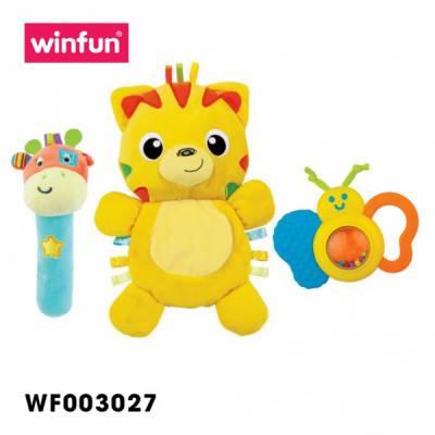 Set 3 đồ chơi cầm tay xúc xắc chíp chíp, hổ sột soạt Winfun 3027