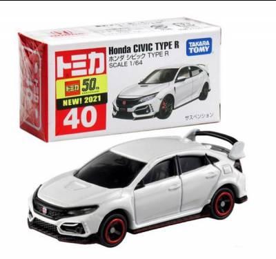 Xe hơi Tomica No.40-11 Honda Civic Type R (BOX)'21 không động cơ