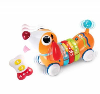 Đồ chơi hình chó con nhiều màu sắc có điều khiển từ xa