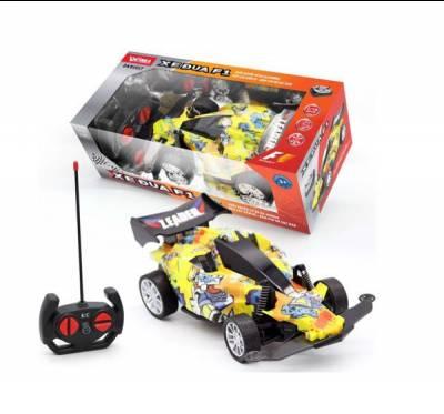 Xe đua F1- Điều khiển từ xa, có ánh sáng, kèm pin và sạc USB (màu vàng)