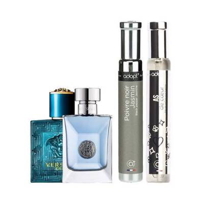 Combo Nước Hoa Mini Versace Eros EDT 5ml - Versace Pour Homme 5ml - Poivre Noir Jasmin Adopt' For Women And Men EDP 30ml Và As De Cœur Adopt' For Men EDP 30ml