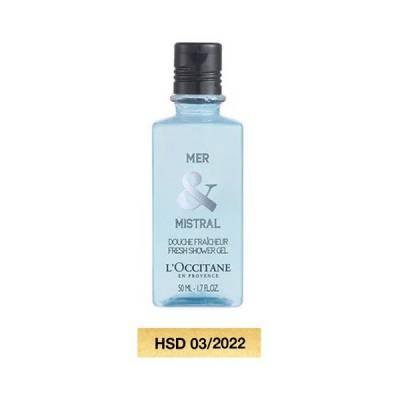 Sữa Tắm Hương Biển Và Thảo Mộc L'Occitane Mer Mistral Shower Gel 50ml