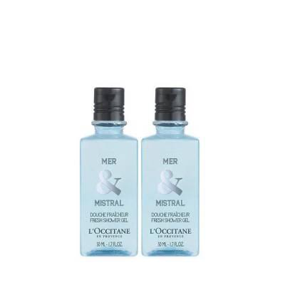 Combo 2 Sữa Tắm Hương Biển Và Thảo Mộc L'Occitane Mer Mistral Shower Gel 50mlx2