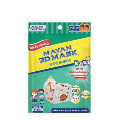 Khẩu Trang Trẻ Em Chống Bụi Và Ngăn Vi Khuẩn MAYAN 3D MASK KIDS++ (5 chiếc)