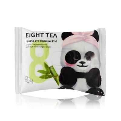 Khăn Ướt Tẩy Trang Mắt Môi BOM EIGHT TEA A LIP AND EYE REMOVER PAD 30pc