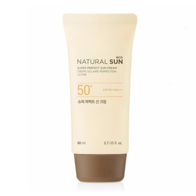 Kem Chống Nắng THEFACESHOP NATURAL SUN ECO SUPER PERFECT SUN CREAM SPF50+ PA+++ 80ml