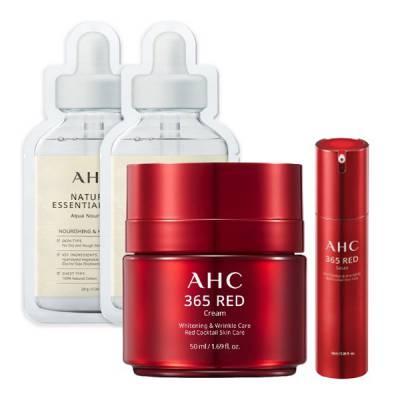Combo Kem chống lão hóa làm sáng da AHC 365 RED CREAM 50ml