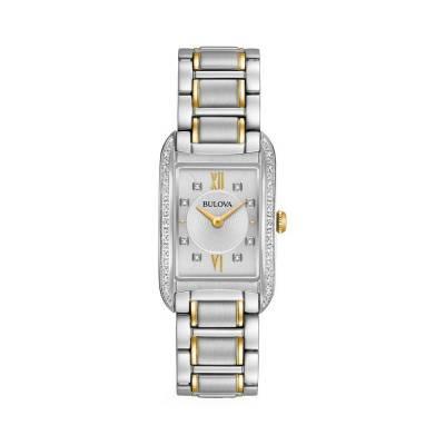 Đồng Hồ Bulova 98R227 Nữ Kính Sapphire Đính Diamond 22 x 34.5mm