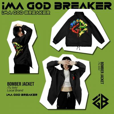 Áo Khoác Form rộng TỨ LINH kiểu Unisex local brand iMA God Breaker (iGB)