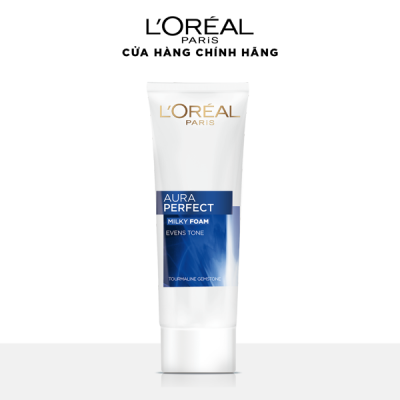 Sữa rửa mặt dưỡng trắng và sáng mịn da L'Oréal Paris White/ Aura Perfect 100ml